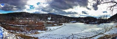 Stowe Vermont Winter Scene Panoramic Art Print by Joann Vitali
