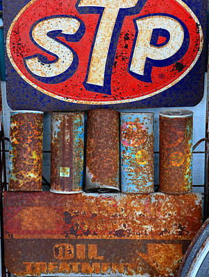 Stp Photograph - Stp Oil Treatment Sign by David Lee Thompson
