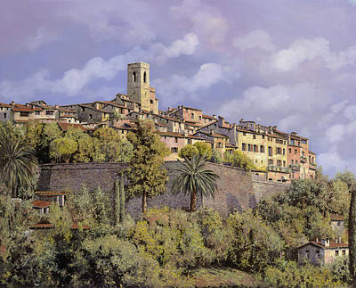 Exhibition Painting - St.paul De Vence by Guido Borelli