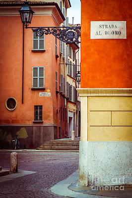 Photograph - Strada Al Duomo Duomo Street by Silvia Ganora
