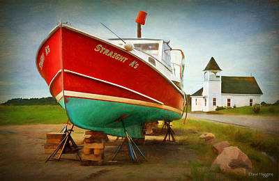Digital Art - Straight A's  Beals Deals Island  Maine by Dave Higgins