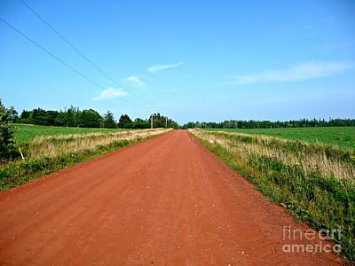 Photograph - Straight Red Dirt Road by Rachel Gagne