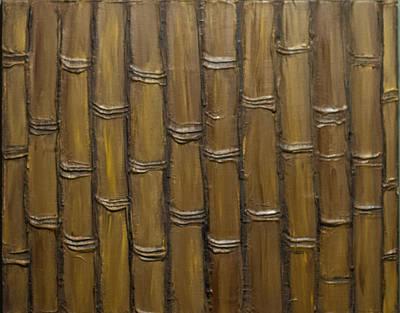 Painting - Straight Up Bamboo Texture by Kathy Sheeran