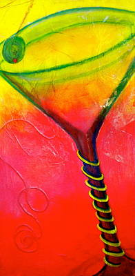 Free Form Mixed Media - Straight Up by Debi Starr