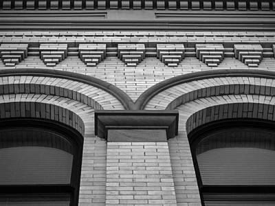 Photograph - Straight Up Perspective - Black And White by Jordan Blackstone