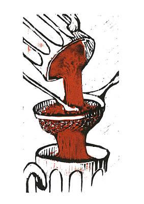 Cookbook Digital Art - Strain Ancho Paste by David Esslemont