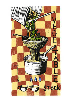 Cookbook Digital Art - Strain Vegetable Stock by David Esslemont