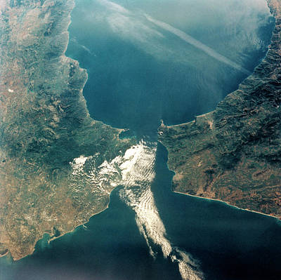 Strait Of Gibraltar Art Print by Nasa/science Photo Library