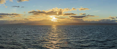 Strait Of Magellan At Sunset, Southern Art Print by Panoramic Images