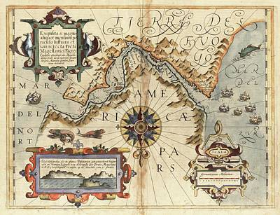 Cartography Photograph - Strait Of Magellan by Library Of Congress, Geography And Map Division