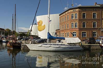 Stralsund Harbour Germany. Art Print by David Davies