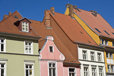 Photograph - Stralsund Roofs. by David Davies