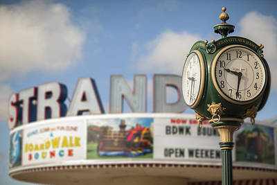 Photograph - Strand Theater Clock by Al Hurley