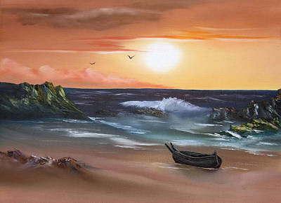 Cynthia-adams-uk Painting - Stranded At Sunset by Cynthia Adams