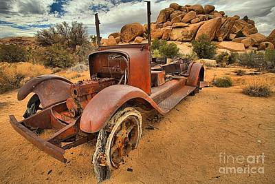 Mining Truck Photograph - Stranded In The Desert by Adam Jewell