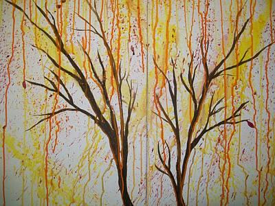 Firedancer Painting - Strange Botany 10 11 Far by Laurette Escobar