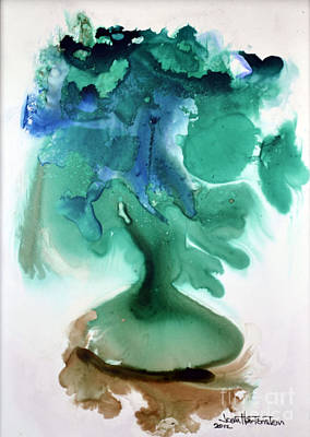 Art Print featuring the painting Strange Compote by Joan Hartenstein