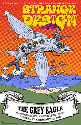 Phish Drawing - Strange Design Grey Eagle by Jon Griffin