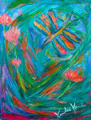 Painting - Strange Dragonfly by Kendall Kessler