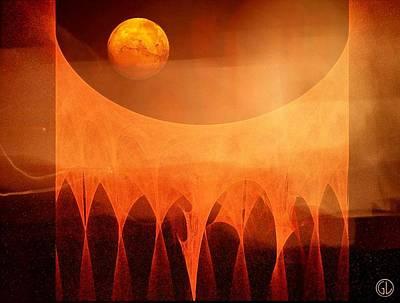 Apophysis Digital Art - Strange Moon by Gun Legler