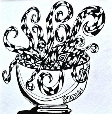 Antennae Drawing - Strange Soup by Beverley Harper Tinsley