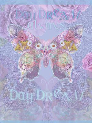 Strange Swirl Butterfly Art Print