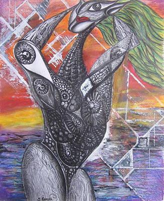 Surrealism Drawing - Stranger by Geni Gorani