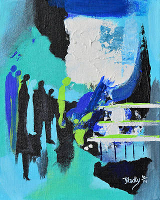 Painting - Strangers Among Us by Donna Blackhall
