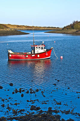 Photograph - Strangford Boat Vertical by Jane McIlroy