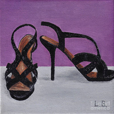 Painting - Strappy Black Heels For Maddy by Laurel Best