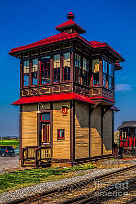 Photograph - Strasburg Switch Tower by Nick Zelinsky