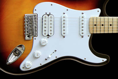 Rock And Roll Royalty-Free and Rights-Managed Images - Electric Guitar 1 by Mike McGlothlen