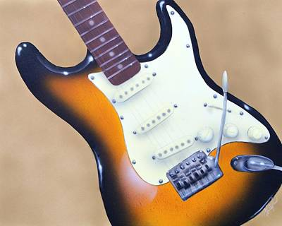 Painting - Strat O. Caster by Chris Fraser