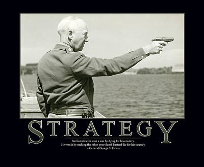 Strategy General George S. Patton Art Print by Retro Images Archive