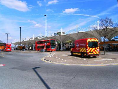Art Print featuring the photograph Stratford Bus Station Study 01 by Mudiama Kammoh