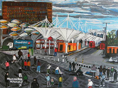 Art Print featuring the painting Stratford Bus Station Study 02 by Mudiama Kammoh