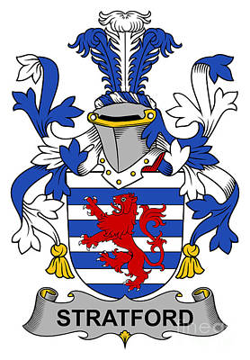 Stratford Digital Art - Stratford Coat Of Arms Irish by Heraldry
