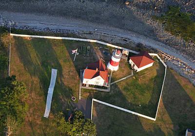 Stratford Photograph - Stratford Point Lighthouse 3 by Dennis Clark