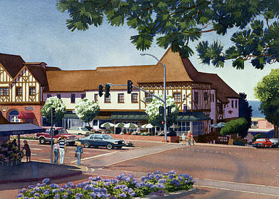 Stratford Square Del Mar Art Print by Mary Helmreich