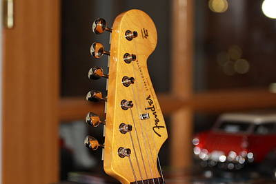 Photograph - Stratocaster Headstock by Chris Thomas