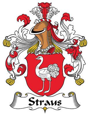 Strau Digital Art - Straus Coat Of Arms German by Heraldry