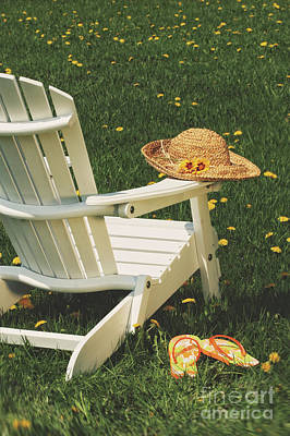 Photograph - Straw Hat On Chair by Sandra Cunningham