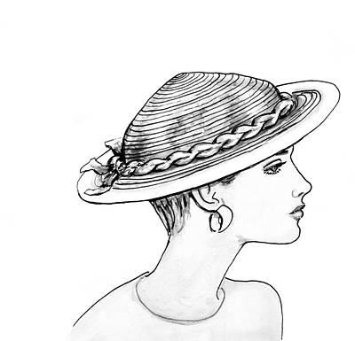 Straw Hat Art Print by Sarah Parks