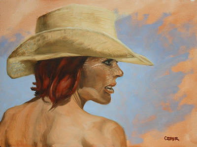 Painting - Straw Hat by Todd Cooper