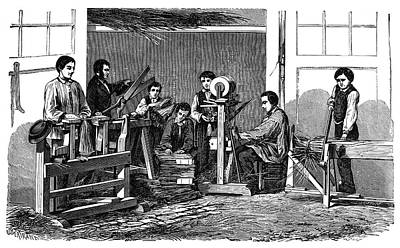 Straw Weavers Art Print by Science Photo Library