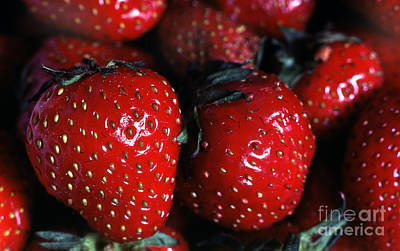 Strawberries 1 Art Print by Rich Killion