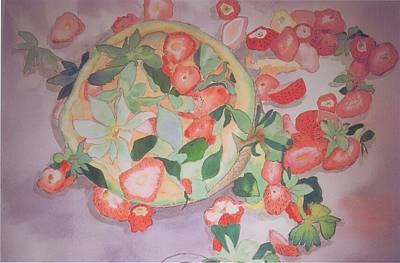 Strawberries And Cantaloupe Original by Karen j Kobrin Cohen