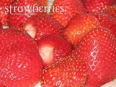 Strawberries Art Print by Cleaster Cotton