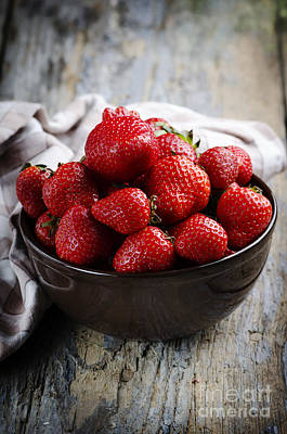 Tasty Photograph - Strawberries by Jelena Jovanovic