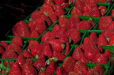 Photograph - Strawberries by John Black